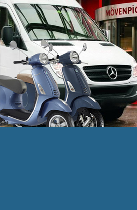 We deliver a Vespa in your Hotel